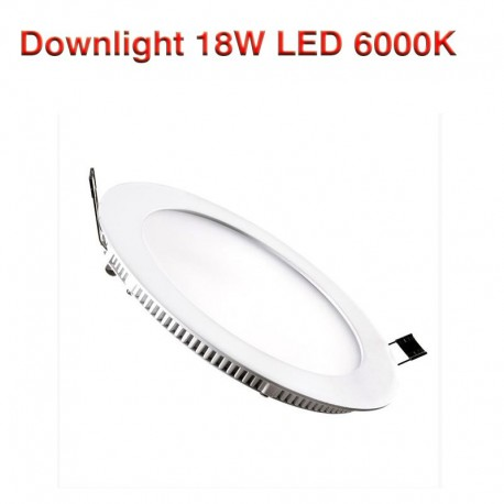 Placa LED Circular SuperSlim 18W  6500K